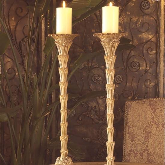 candlestick palm motif