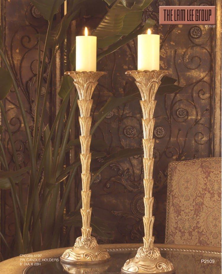 κηροπήγιο palm motif